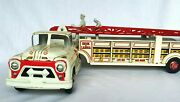 Rare Vintage Louis Marx Fire Truck Hook And Ladder