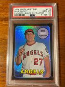 2018 Topps Heritage Mike Trout 275 Chrome Black Refractor 38/69 Psa 10 Gem Mint