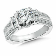 Natural 1.40 Ct Round Cut Diamond Anniversary Ring Solid 14k White Gold Size 5 6
