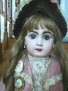 Antique French 26 Tete Jumeau Bebe Bisque Red Stamp