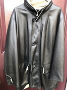 Loro Piana Storm System Twill/lambskin Leather Reversible Coat Made In Italy 48