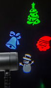 Noma Moving Christmas Character Projector Light Decoration Multicoloured Timer