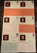 Postal Commemorative Society Authorized Gold Stamp Replicas - Olympics Lot Of 6