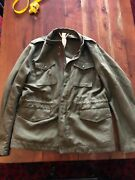 Equipe And03970 Linen M65 Field Jacket Green Italy 52 Usa M/l Aspesi Barena Nwt