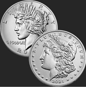 2021 Morgan And Peace Dollar Full 6-coin Set Us Mint Confirmed