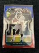 2020 Panini Prizm Jalen Hurts Red White Blue Sp Rookie Rc 343 - Eagles