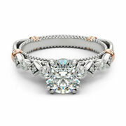 0.60 Ct Real Diamond New Design Wedding Ring Solid 14k White Gold Size M N O
