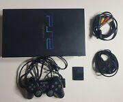 Ps2 Playstation Games Console Fat Official Controller Complete Set Up Scph-39003