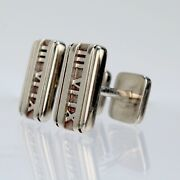 And Co. Atlas Roman Numeral Sterling Silver Cufflinks - Vr
