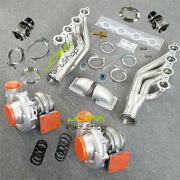 T4 A/r 80/96 Turbo+manifold+elbow Adapter+wastegate For Small Block V8 Ls1 Ls2