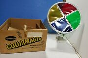 Vintage Rotating Color Wheel For Aluminum Christmas Tree Box. Compco Color Magic