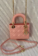 Auth🔥christian Dior🔥 Mini Lady Dior Pink. Excellent