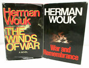 War And Remembrance / Winds Of War By Herman Wouk - 1st/1st - Hcdj Set - Ww 11