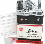 Leica M4-p Silver Body 1913-1983 Edition Boxed 10416 Mint