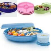 Tupperware Small Serving Center W/ Removable Snack Cup New