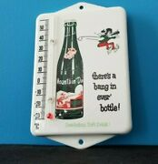 Vintage Mountain Dew Porcelain Gas Soda Glass Bottle Soda Ad Sign Thermometer