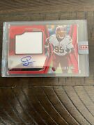 2020 Panini Certified Football 211 Chase Young Freshman Fabric Red Rpa 63/199