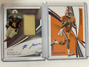 Rondale Moore /49 2021 Panini Immaculate Rookie Patch Auto + Deandre Hopkins /39