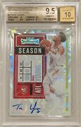 2020-21 Panini Contenders Cracked Ice Autograph /15 Trae Young Hawks Bgs 9.5/10