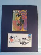 Saluting Looney Tunes And Daffy Duck And The First Day Cover Of Daffyand039s Own Stamp
