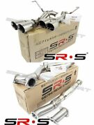 Srs Catback Exhaust System Muffler Delete For 15-19 Wrx/sti Polished Quad Tips