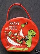 Beany And Cecil Vinyl Lunchbox Bag, Purse Style, 1961