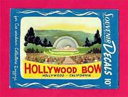 Vintage Hollywood Bowl California 1951 Meyercord Souvenir Decal Old Store Stock