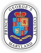 Sticker George County Seal Maryland For Bumper Laptop Tool-box Truck Car