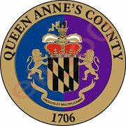 Sticker Queen Anne's County Seal Maryland For Bumper Laptop Tool-box Truck Car