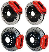 Wilwood Disc Brake Kit,complete,93-97 Firebird,12 Drilled Rotors,red Calipers