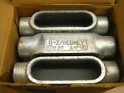 0z Gedney Form 7 C27 Conduit Body Type C 3/4and039and039 Qty 6 Lb Ridgid