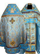 Fully Embroidered Russian Orthodox Vestment Blue