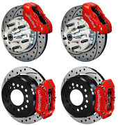 Wilwood Disc Brake Kit,1956 Chevy Corvette,11 Drilled Rotors,red Calipers