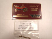 Ford Model T Owners Identification / Id Plate - Brass With Drive Rivets