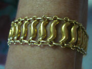 18k Yellow Gold Antique Hand Made Bracelet From The Holy Land.
