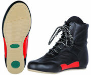 Greenhill Boxing Shoes Leather Boot Box Men Training Running Fight Grip Black