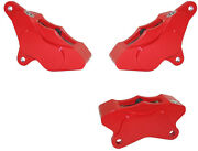 Wilwood 1984-99 Harley Davidson Front 2 And Rear Motorcycle Brake Calipers,red