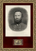 Stonewall Jackson's Sword Plate Buckle No. Series • Shadow Box With Signed Photo