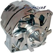 High Output Alternator Chrome For Gm Chevy Hot Rod 3 Wire Billet Pulley 200 Amp