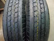 Two St175/80d13 6 Ply Utility, Trailer, Boat Tires Load Range C