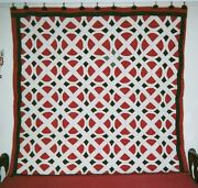 Railroad Crossing Quilt 76 X 76, C.1860-75, New Hampshire. Cottons.