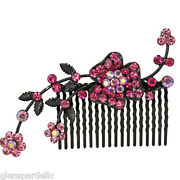 Kirks Folly Flower Fancy Hair Barrette Bridal Special Occasion Comb S6967k1h