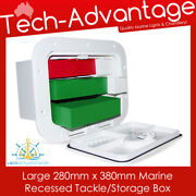 Marine Boat/caravan Recessed Tackle/storage Box Complete With 7 Internal Trays