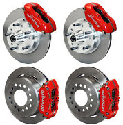 Wilwood Disc Brake Kit,65-72 Cdp A-body W/10 Drums,red Calipers,11,w/ Pb Cable