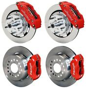 Wilwood Disc Brake Kitcdp 62-72 B70-72 E-body W/drums12red 6 Pistonw/cable
