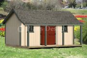 16x20 Ft Guest House Storage Shed With Porch Plans P81620, Free Material List