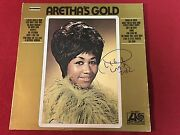 Aretha Franklin Signed Aretha's Gold Lp Album Vinyl Queen Of Soul Exact Proof