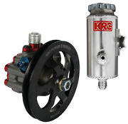 Krc Pro Series Aluminum Power Steering Pump W/ V-belt Pulley And Remote Tank