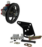 Krc Pro Series Aluminum Power Steering Pump W/ V-belt Pulley And Ford 260-302 Brkt
