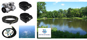 New Large Pond Aerator System 200' Wtd Hose 2-diffusers-complete Kit 1/2 Hp Pump